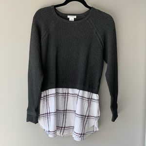 Club Monaco grey sweater with silk bottom